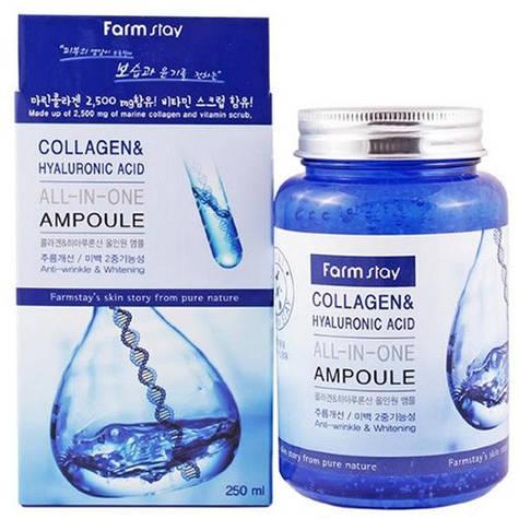 Сыворотка с коллагеном и гиалуроновой кислотой FarmStay Collagen & Hyaluronic Ampoulе
