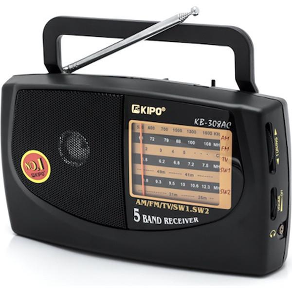 Радіоприймач КІРО 5-хвильовий AM/FM/SW/MW/LW КІРО 308 Чорний (hub_jEkR26506)