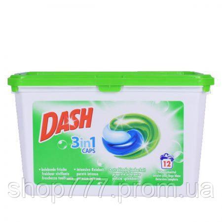 Dash 3in1 Caps капсули для прання універсальні 12 шт