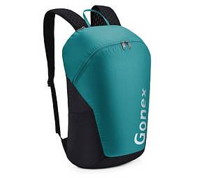 Легкий туристический рюкзак Gonex 32L для трекинга. Складной рюкзак-гермомешок. Бирюзовый.