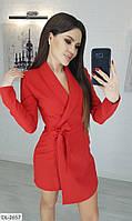 Модный женский комбинезон-шорты имитация платья арт 289