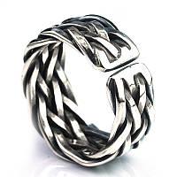 """Массивное серебряное кольцо-перстень 6,0 гр. 925 пробы """"Infinity effect """"S"""" с регулируемым размером, фото 1"""