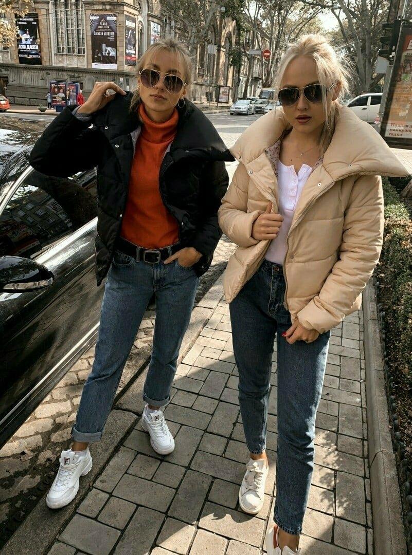 Теплая короткаяженская куртка с высоким воротником (4расцв) 42,44,46р.