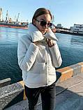 Теплая короткаяженская куртка с высоким воротником (4расцв) 42,44,46р., фото 3