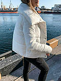Теплая короткаяженская куртка с высоким воротником (4расцв) 42,44,46р., фото 10