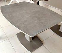 Стіл обідній розкладний Мілан-1 TES Mobili, стільниця з керамічним покриттям brown
