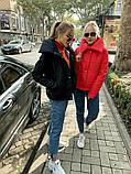 Теплая короткая женская куртка с высоким воротником (4расцв) 42,44,46р., фото 4