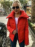 Теплая короткая женская куртка с высоким воротником (4расцв) 42,44,46р., фото 2