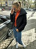 Теплая короткая женская куртка с высоким воротником (4расцв) 42,44,46р., фото 8