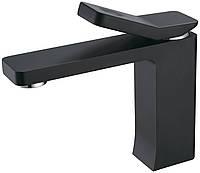 Смеситель для умывальника Unique 85501602 ASIGNATURA однорычажный с коротким изливом черный