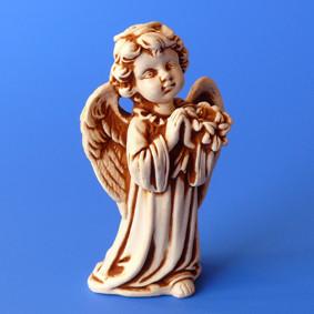 Фигурка гипсовая Ангелочек с букетом