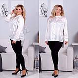 Рубашка женская батал молоко, хаки, фисташка, сирень 48-50, 52-54, 56-58, 60-62, фото 2