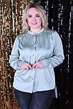 Рубашка женская батал молоко, хаки, фисташка, сирень 48-50, 52-54, 56-58, 60-62, фото 7
