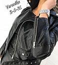 Женская короткая куртка косуха из змеинной экокожи питона, фото 6
