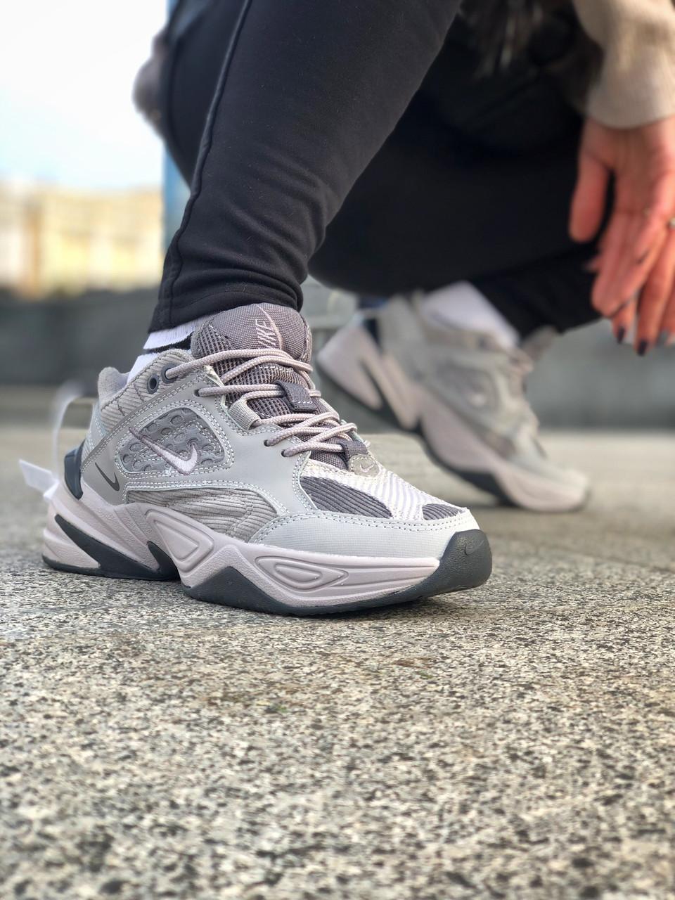 Женские Кроссовки Nike M2K Tekno Atmosphere Grey, Найк М2К Текно Серые