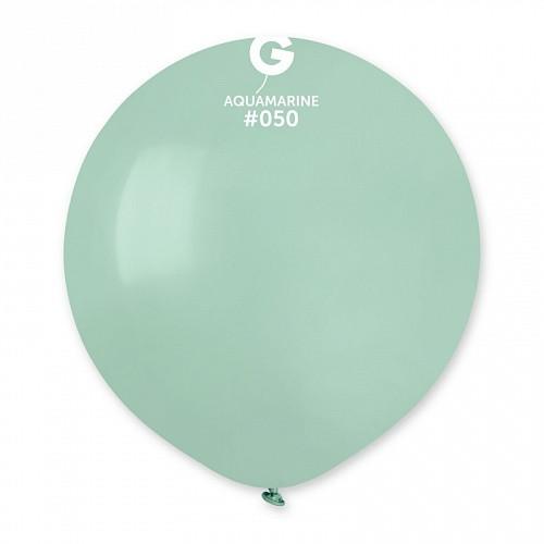 """Латексна кулька пастель аквамарин 19"""" /50 /45 см"""