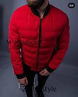 Мужская куртка, плащевка канада + рибана, р-р 44-46, 48-50, 52-54 (черный, красный, бордо, хаки)