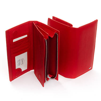 Кошелек Classic кожа DR. BOND WMB-3M red, фото 2