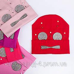 Трикотажная шапка на подкладке х/б р52-54 упаковка 5 шт
