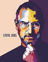 "Картина по номерам ""Стив Джобс"" ★★★★  scs"
