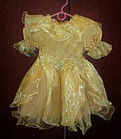 Золотое платье на девочку 2-3,5 года на прокат, фото 1