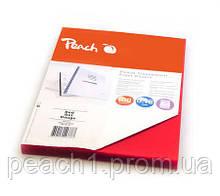 Обложка для переплета Peach передняя прозрачная А4 100шт 180 мкм красная