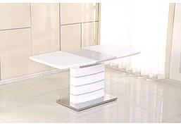 Стол обеденный небольшой в современном стиле Houston MINI (Хьюстон мини)  Evrodim, White  Gloss