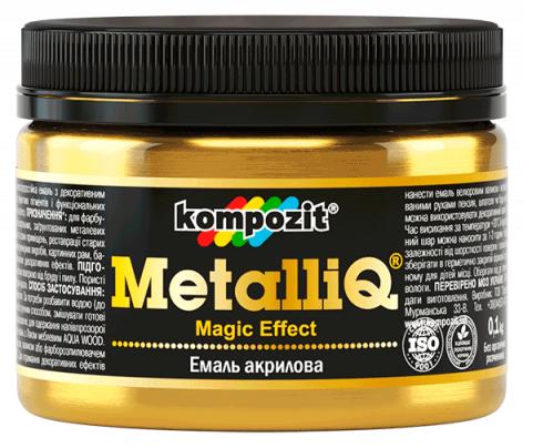 Эмаль акриловая Kompozit METALLIQ (0,5 кг) Платина