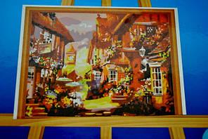 Картина на холсте по номерам Осенний город