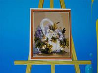 Картина на холсте по номерам Корзинка