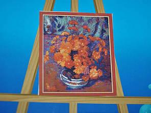 Картина на холсте по номерам Хризантемы