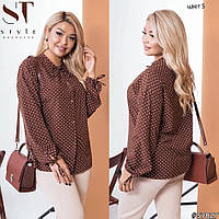 Жноча блуза в горох, фото 1