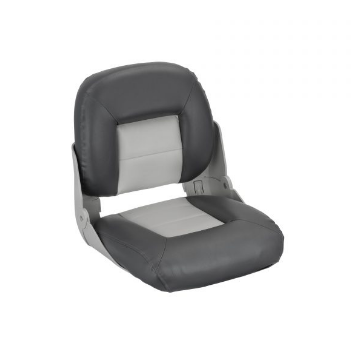 Сиденье в катер складное cruistyle низкая спинка 75114GC серо угольное