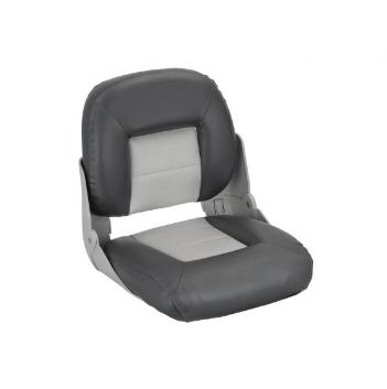 Сиденье в катер складное cruistyle низкая спинка 75114GC серо угольное, фото 2
