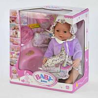 Пупс Baby born функциональный BL 023 Q (12) с аксессуарами, в коробке