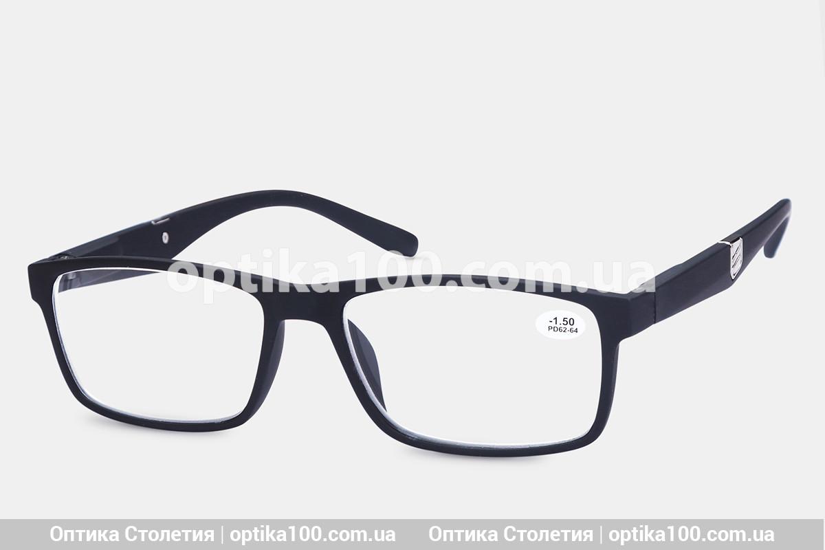 Окуляри для зору МІНУС. Чорна матова оправа -1,0 або -2,0