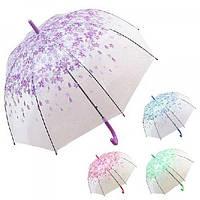 Зонт-трость глубокий (зонтик) от дождя ветрозащитный полуавтомат 60см Весна Stenson (R83141)