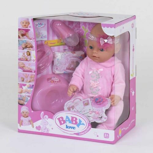 Пупс Baby born функциональный BL 023 A  (12) с аксессуарами, в коробке