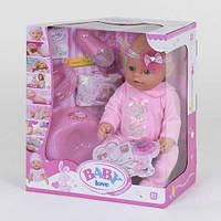 Пупс аналог Baby born функциональный BL 023 A  (12) с аксессуарами, в коробке