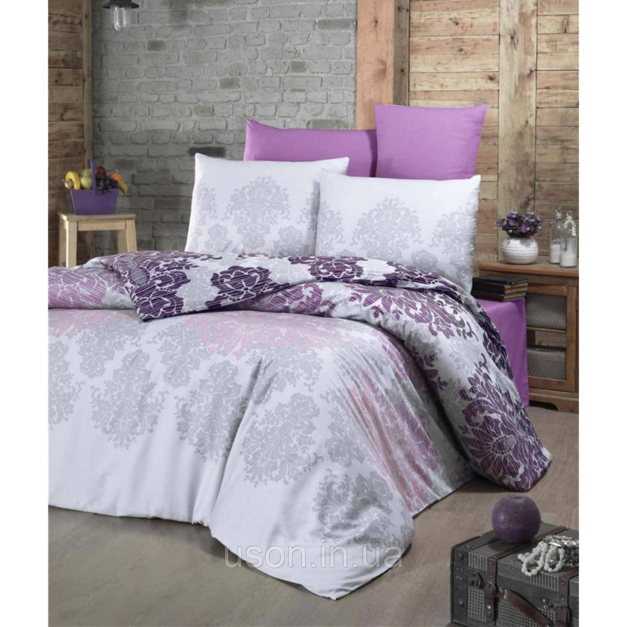 Комплект постельного белья из сатина deluxe евро размер TM Victoria Maderia