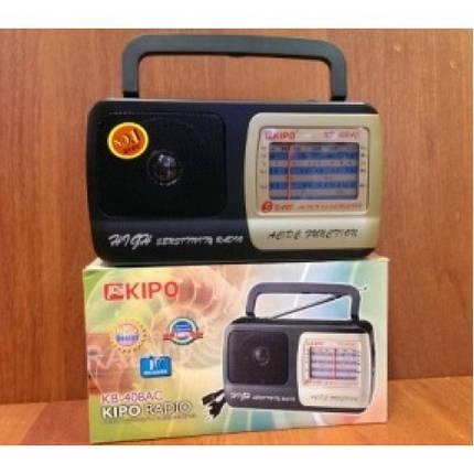 Радиоприемник переносной KIPO KB-408 АC аналоговый тюнер AM/SW/FM есть функция точной подстройки, фото 2