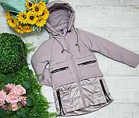Куртка для девочки осень  весна код 204  размеры на рост от 128 до 152 возраст от 6 лет и старше, фото 1