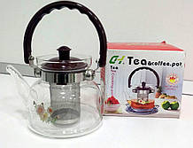 Скляний чайник-заварник Cooking Сoffee &Tea.Pot