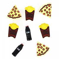 3597 Декоративні ґудзики. Піца з Колою, Код товару: 1050933