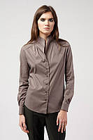 Блуза женская стойка серая