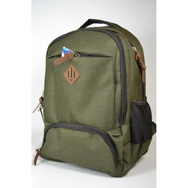 Міський рюкзак оливковий | Городской молодежный оливковый рюкзак