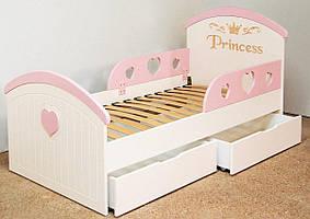 Кроватка детская Принцесса. спальное место 160*80 см.