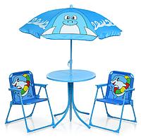 Детский стол со стульчиками и зонтом Пляжник