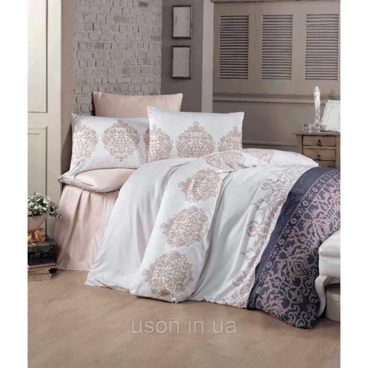 Комплект постельного белья из сатина deluxe евро размер TM Victoria Asrin