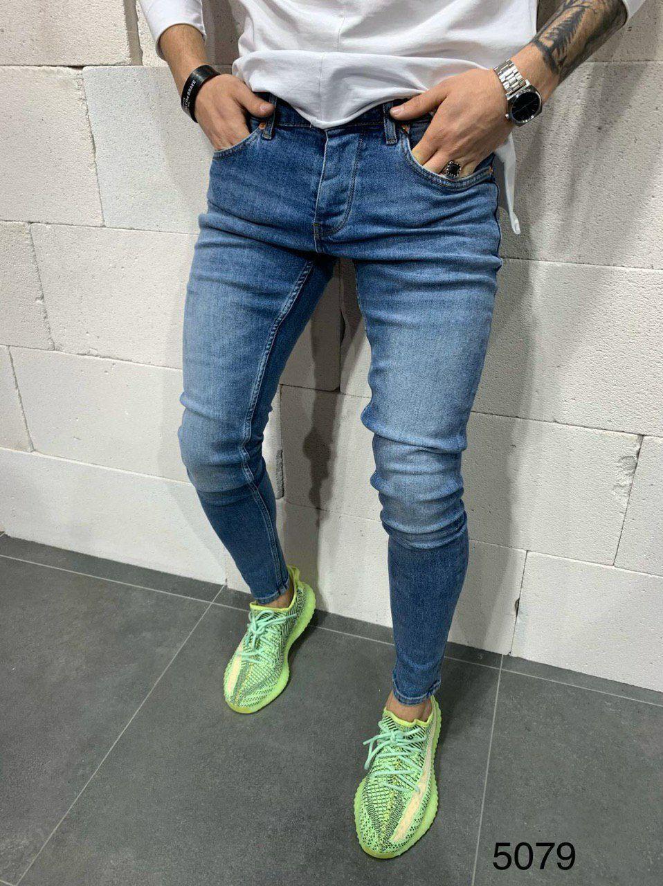 Мужские демисезонные зауженные джинсы